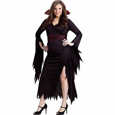 Classy Women Costumes (Fun World Halloween Costume Classy Vamp Size Med, L, XL Womens Adult New)