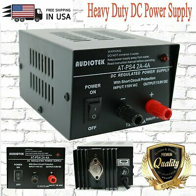 At-ps4 13.8v 4a Amp Heavy Duty Dc Regulated Power Supply Grade With Cable New