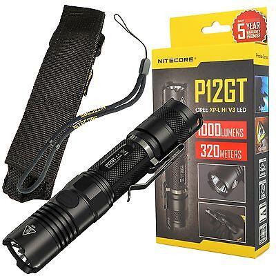 NITECORE P12GT CREE XP-L HI V3 LED Tactical Compact Flashlight 1000 Lumens