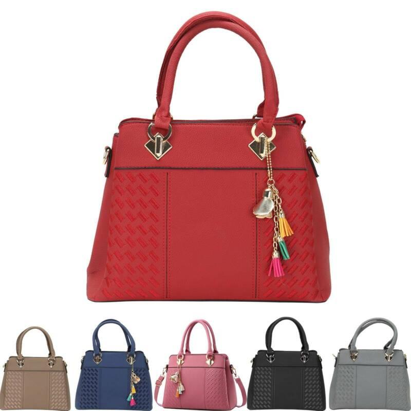 Damentaschen Umhängetasche Shopper Schulter Tasche Nieten Leder Handtasche Bag