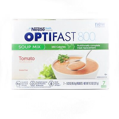 -  OPTIFAST 800 TOMATO SOUP -1 BOX - 7 SERVINGS - FRESH - NEW & IMPROVED FORMULA