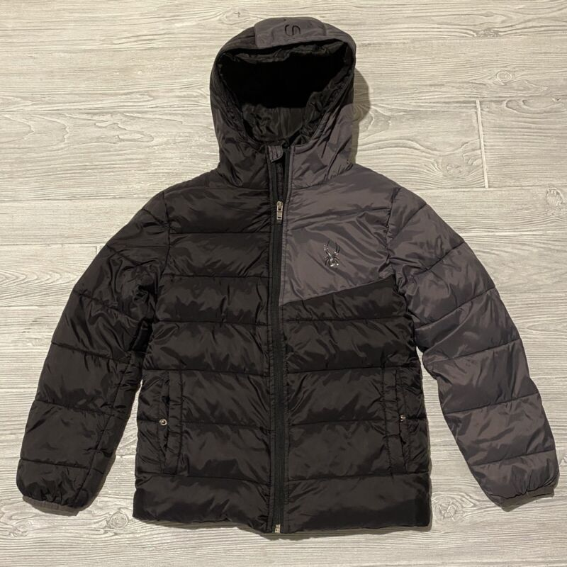 Spyder quilted puffer winter jacket kids Size boys Medium 10-12