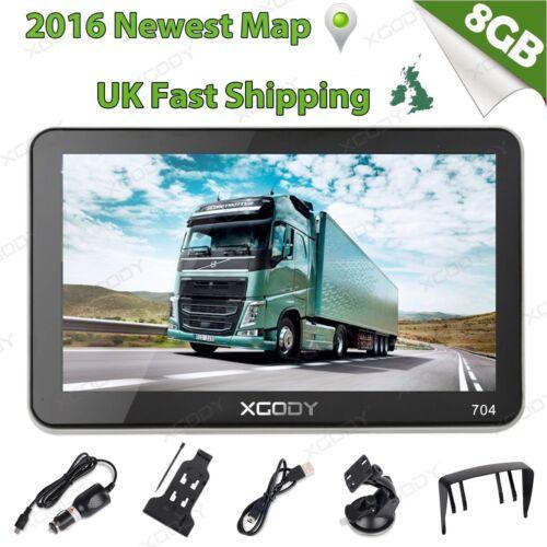 Xgody  Truck Car Navigation Gps Navigator Sat Nav Gb Uk Eu Map Speedcam Fm
