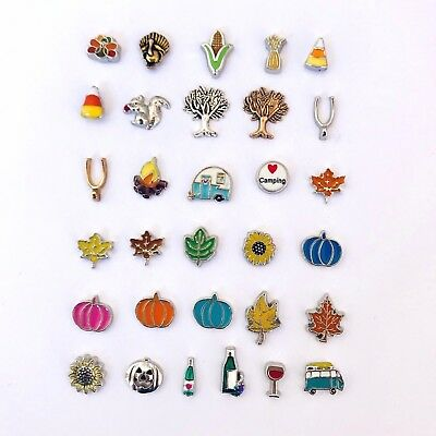 Floating Charms Thanksgiving Fall Autumn Charm fit Origami Owl Glass (Thanksgiving Glasses)