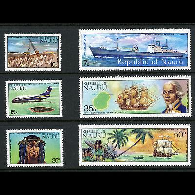 NAURU 1974 175th Anniversary & First Contact. Ships. SG 116-121. MLH. (AB792)