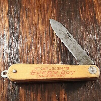 SHAPLEIGHS EVERY BOY GUARANTEED KNIFE MADE IN USA OLD VINTAGE FOLDING POCKET