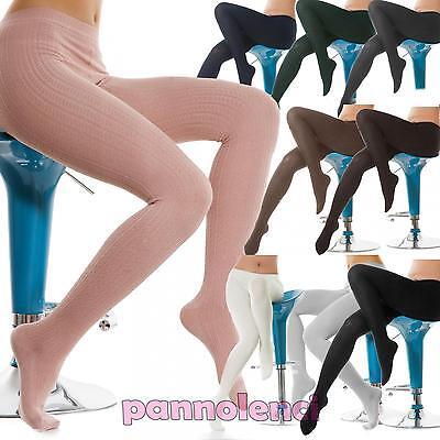 Calze collant elasticizzate donna calzettoni alti donna nuovo S 1071