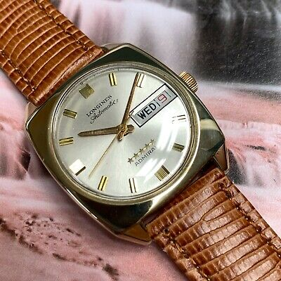 1970's Vintage Gent's Longines Admiral Automatic Wristwatch Serviced & Warranty