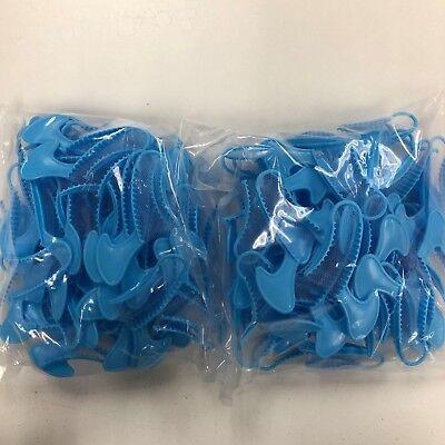 Dental Impression Bite Registration Triple Trays Posterior Blue 100 Total