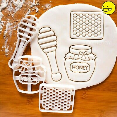 3 Honey theme cookie cutters Cut Comb Pot Dipper Drizzler baby shower birthday