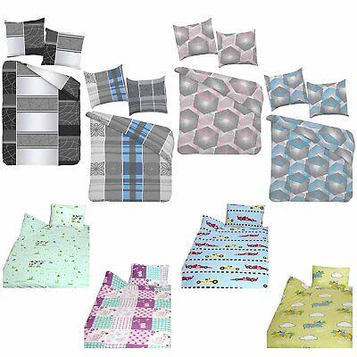 Feinbiber Bettwäsche Bettgarnitur für Kinder  100x135cm + 40x60 100% Baumwolle