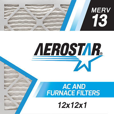 Aerostar 12x12x1 MERV  13,  Air Filter, 12x12x1, Box of 6