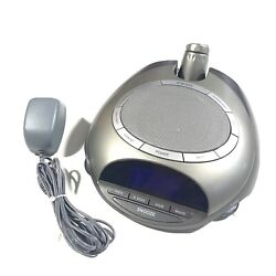 Homedics AM/FM Sound Spa Clock Radio Alarm Nature Sounds Projector SS-4500
