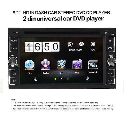 "6.2"" Car Stereo Radio DVD Player Double 2DIN Buletooch IN Dash+Backup Camera"