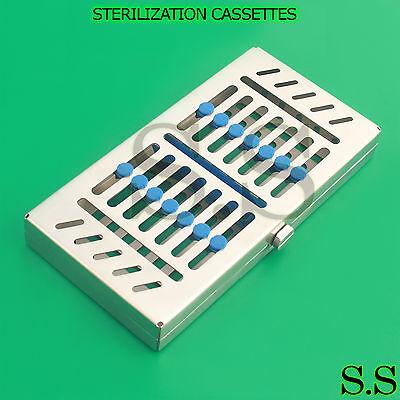 5 Dental Autoclave Sterilization Cassette Tray Instrument 7.25x2.75x1.25 St-005