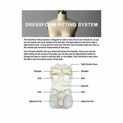 Adult Female Dress Form Padding System For Professional Dress Forms 12 Piece...