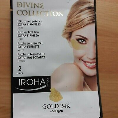 Iroha Nature Divine Gold 24K Foil Tissue Patches For Eyes, Extra Firmness
