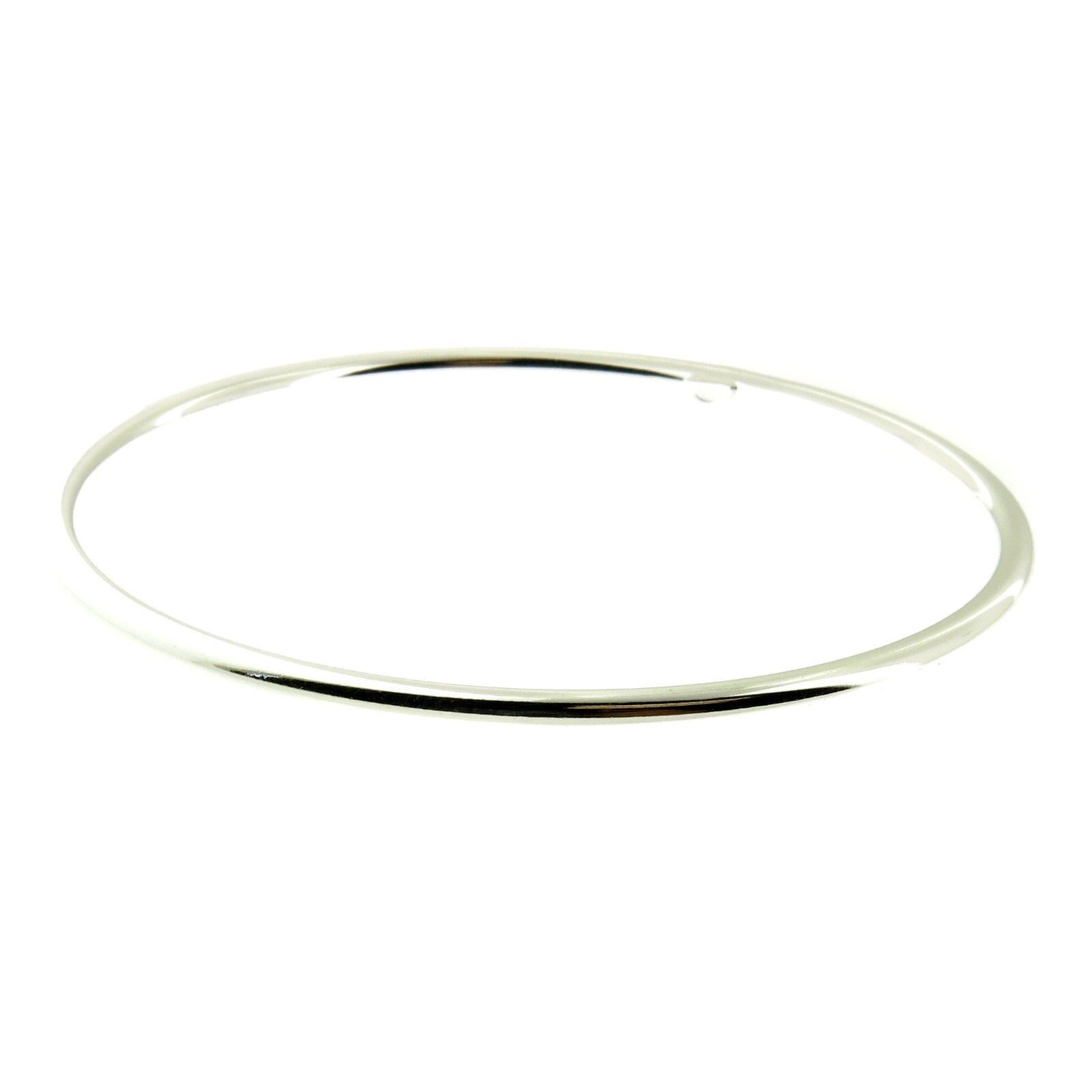 925 Sterling Silver Highly Polished Smooth Cuff Bangle Bracelets