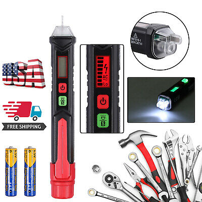 Ac Non-contact Lcd Electric Test Pen Voltage Digital Detector Tester 121000v