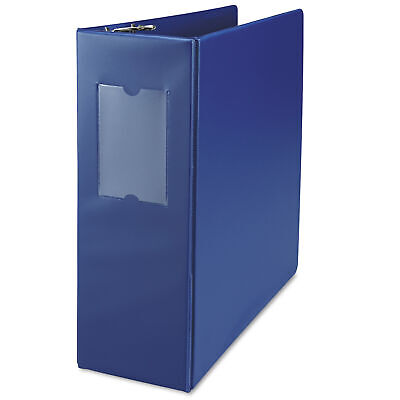 Universal D-ring 3-ring Binder With Label Holder 4 In. Capacity Royal Blue Ea
