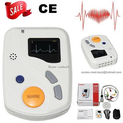 Contec Tlc6000 Dynamic 12channel Holter Ecg Ekg Monitor 48hour Software Alalyzer