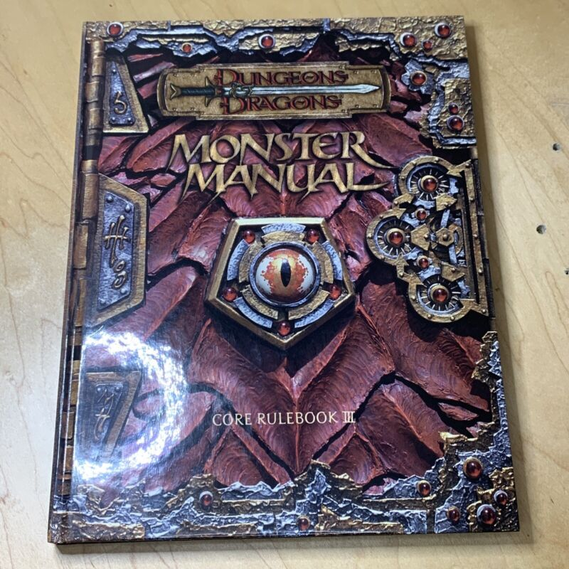 Monster Manual: Core Rulebook III [Dungeons & Dragons] Very Good Condition Clean