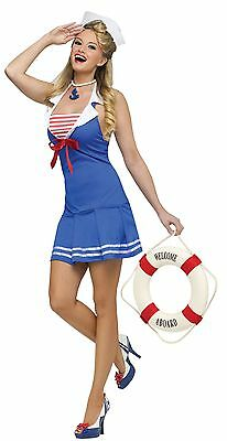 Womens Sexy Sailor Costume Retro Pinup Pin Up Middy Navy Rockabilly S M L NEW