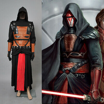 Star Wars Darth Revan Cosplay Kostüme Cape Schwarz Full Set Fasching Party