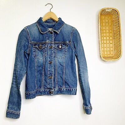 Abercrombie & Fitch Studded Denim Jacket Jeans Jacket Women's Size Small Cotton
