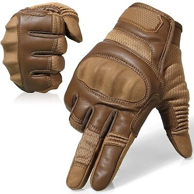 Finger Assault Gloves - Assault Hard Knuckle Full Finger Tactical Gloves For Hunting Motorcycle Airsoft