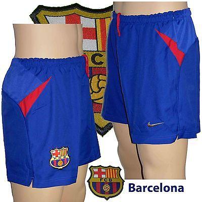 "Barcelona Home Shorts Small 28-30""(WITH BRIEF) Season 2001/02"