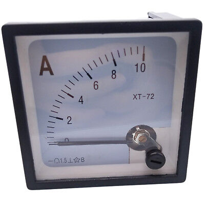 Us Stock Dc 0 10a Analog Amp Current Pointer Needle Panel Meter Ammeter Xt-72