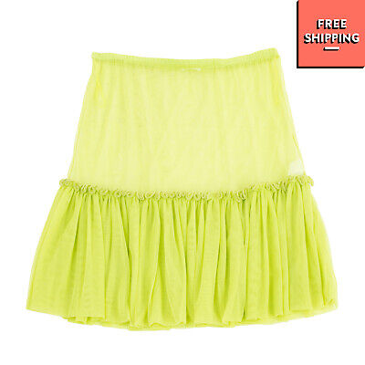 MISS GRANT Tulle Upper Skirt Size 44 / 13Y Green See Through Gathered
