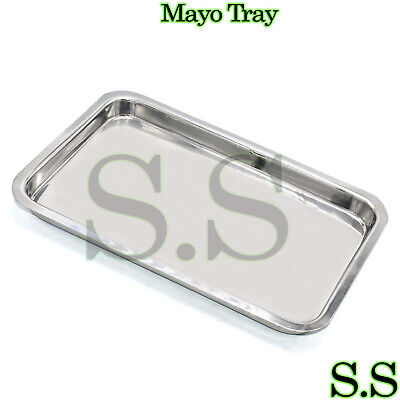 Mayo Instrument Tray 10.75 X 6.75 X1 Surgical Dental Veterinery Instrument