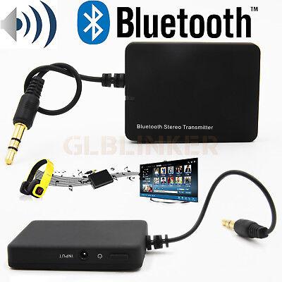 Wireless Bluetooth Audio Transmitter 3.5mm Stereo HiFi Adapter TV PC Dongle A2DP