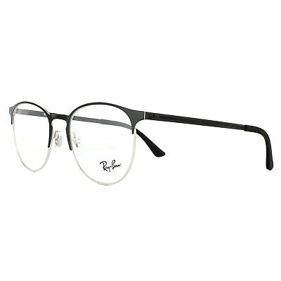 Ray-ban Gafas Monturas 6375 2861 Plata en Top Negro 51mm