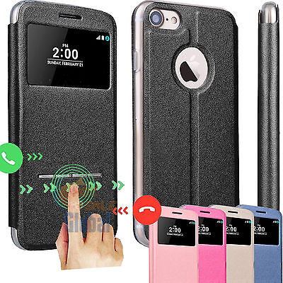 Flip Leather View Window Stand Case Cover For Apple Iphone 7 4 7    7 Plus 5 5
