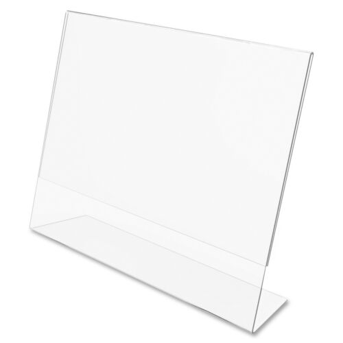 "Dazzling Displays 10 Acrylic 11"" x 8-1/2"" Slanted Sign Holders"