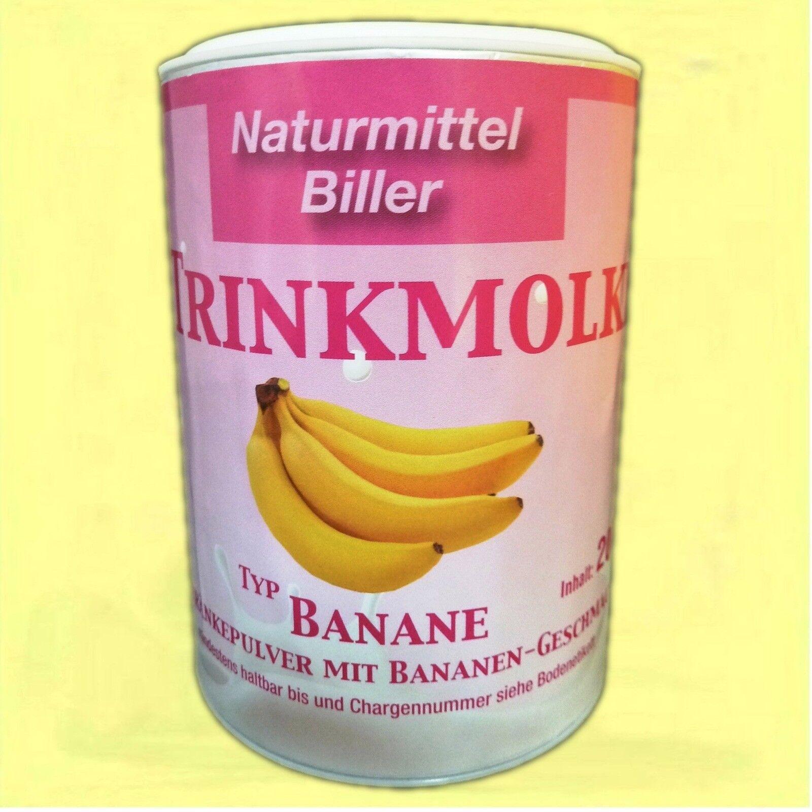 Trinkmolke Banane Biller Molkenpulver Diätdrink Molkeneiweiß Shake Slim 200gDose