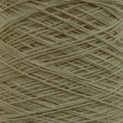 500g CONE 6 PLY BERBER RUG MAKING WOOL YARN LATCH HOOK ECRU CREAM UNDYED NATURAL