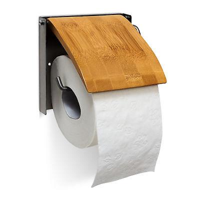 Toilettenpapierhalter Bambus Klopapierhalter Papierrollenhalter Klorollenhalter