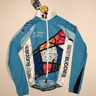 PACTIMO ROMERO BRITTO BEST BUDDIES LONG SLEEVE CYCLING JERSEY JACKET SIZE