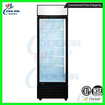 Commercial 1 Glass Door Merchandiser Upright Refrigerator - Display Cooler Drink