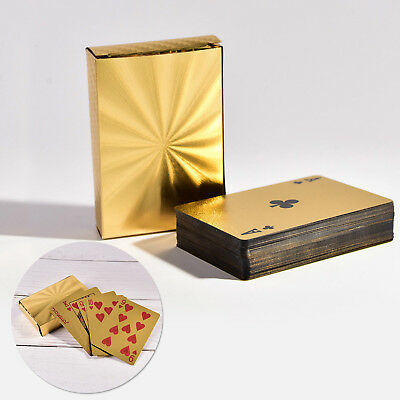 Waterproof Plastic Playing Cards Collection Gold Diamond Poker Cards Table Games](Playing Cards Games)