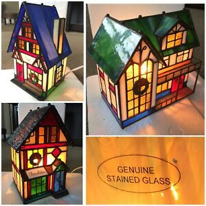 3 Holiday Creations Stained Glass Houses