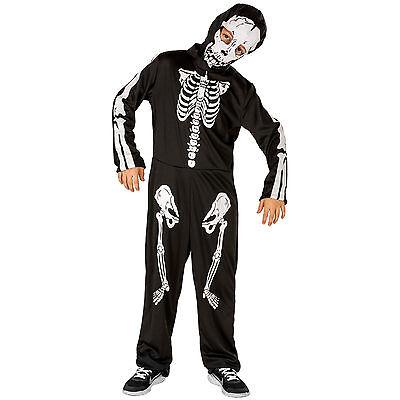 Jungenkostüm Skeleton Skelett Kostüm Karneval Fasching Halloween Kinder Jungen