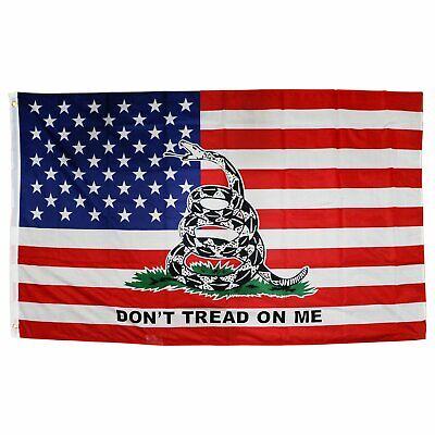 3x5FT Flag Don't Tread on Me American Flag Gadsden Timber Revolution Patriot Décor