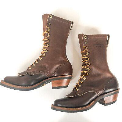 White's Hathorn Explorer Men's Plain Toe Packer Brown Leather Boots 7.5 EE H7807