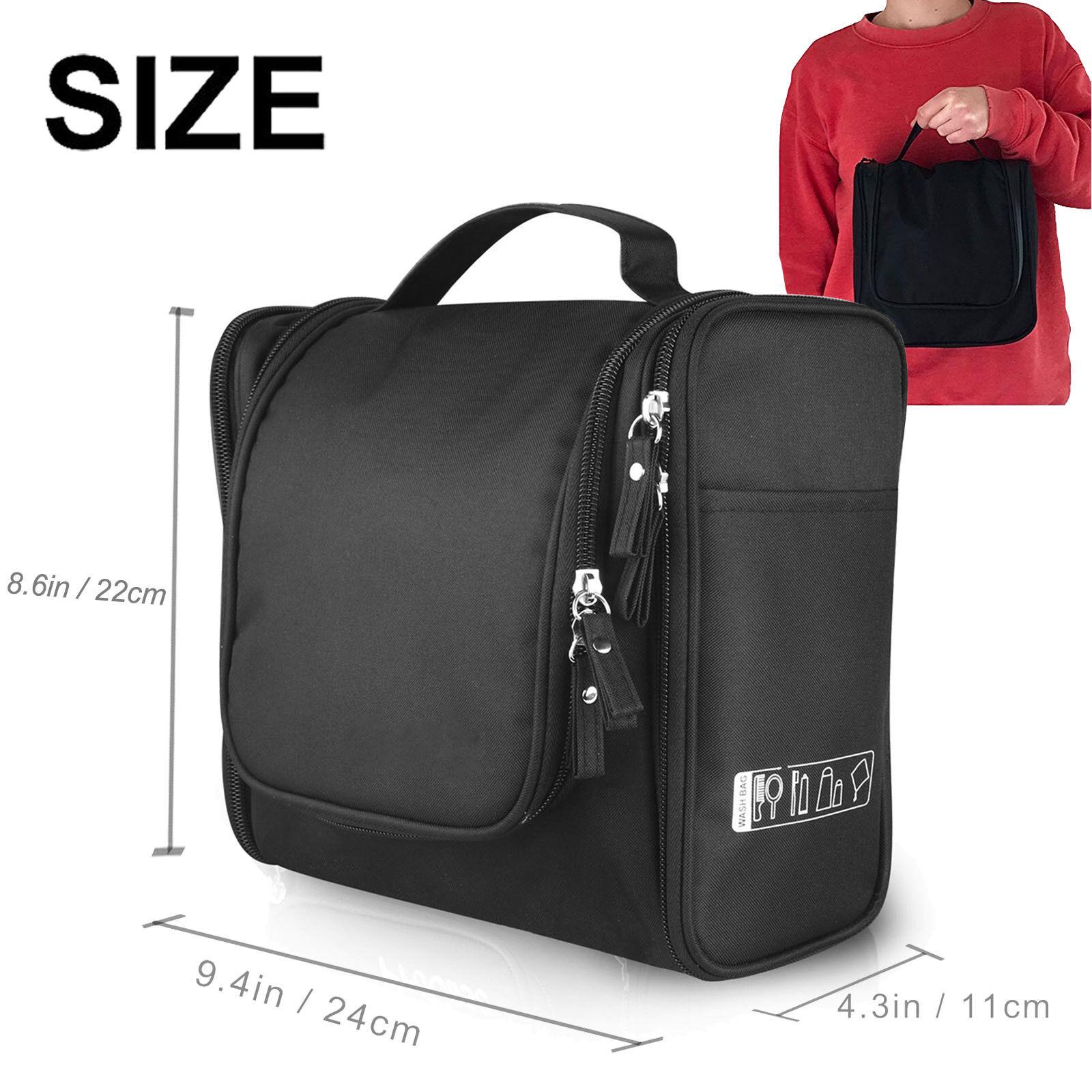 Travel Toiletry Bag Waterproof Bathroom Shower Bags with Han