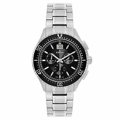 Edox C1 Chronograph Big Date Men's Quartz Watch 10026-3M-NIN